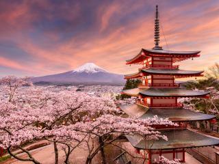 Fujiyoshida Japan at Chureito