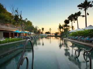 Main Pool at Sunset