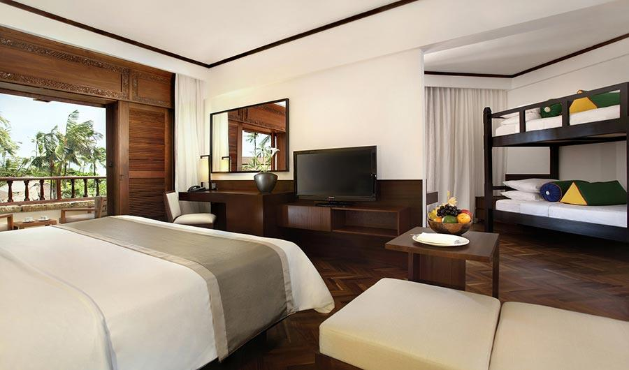 Nusa dua beach hotel spa accommodation bali for Family room in a hotel