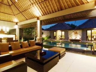 Villa Lounge at Night