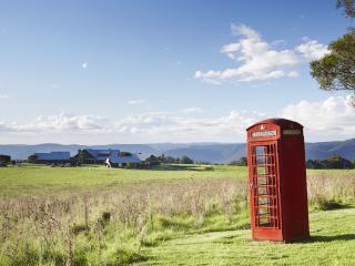 Telephone Box and Main Lodge