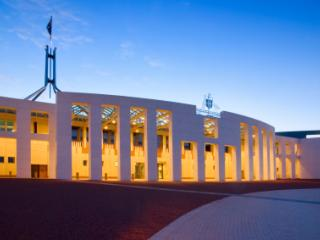 Canberra Parliament House at Twilight