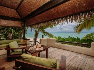 Premium Beachfront Bungalow Deck