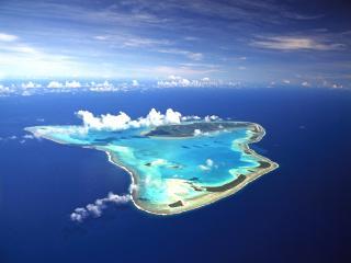 Aerial Aitutaki Island