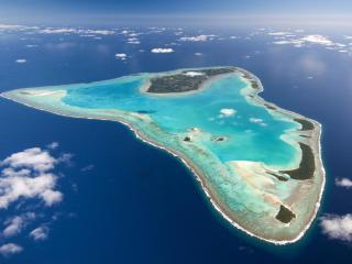 Cook Islands Aerial View