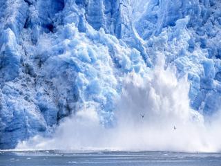 Glacier calving Alaska