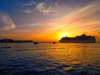 Cozumel Island Sunset Cruise Riviera Maya Mexico