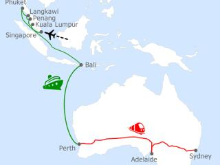 FSC Map-SIN-SYD Indian Pacific_Princess