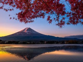 Colorful Autumn Mount Fuji Japan