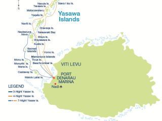 Yasawa Cruises Map