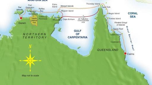 Cape York & Arnhem Land Map