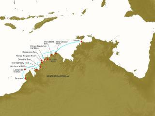 The Kimberley Cruise Map