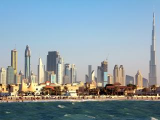 Jumeirah Beach, Dubai Downtown and Burj Khalifa