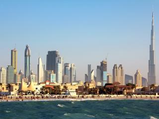 Jumeirah Beach, Dubai Downtown and Burj Khalifa
