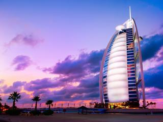 Burj Al Arab at Sunset, Dubai