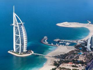 Burj Al Arab Aerial and Dubai