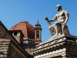 Florence - Statue Of Giovanni Delle Bande Nere, Piazza San Lorenzo