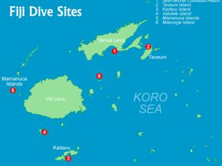 Fiji Dive Map