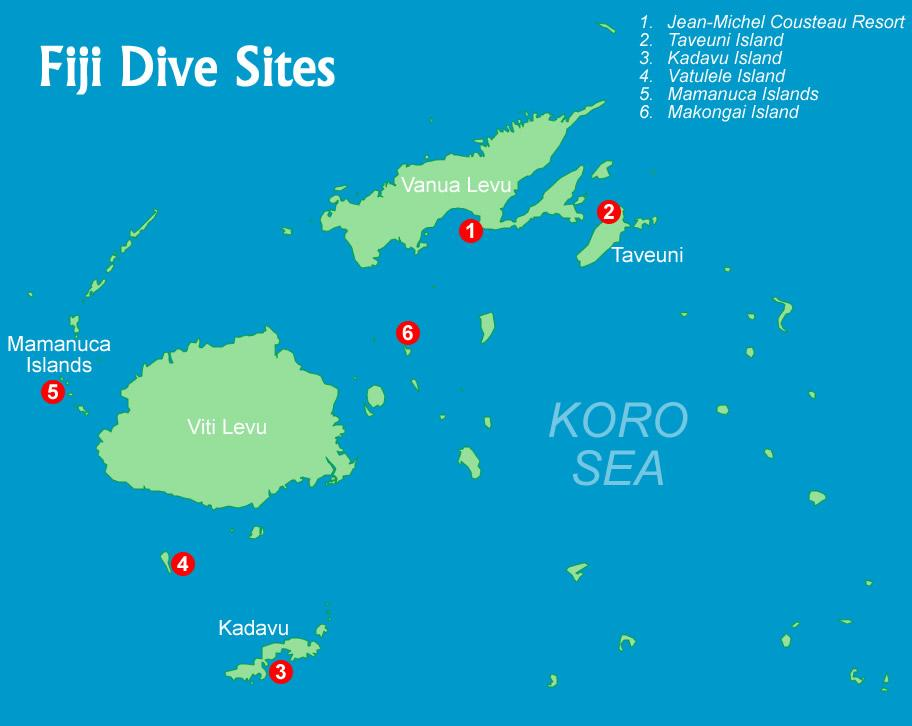 Fiji diving fiji dive locations fiji dive map gumiabroncs Gallery