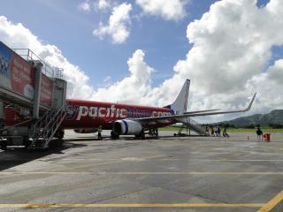Airplane on Runway at Nadi Airport