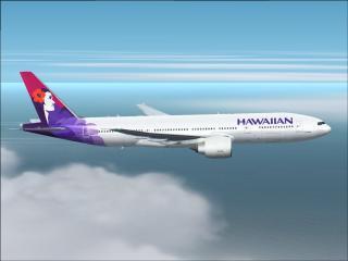 Hawaiian Airlines Plane in flight