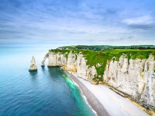 Etretat Aval Cliff Rocks and Natural Arch, Normandy