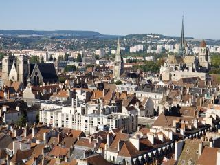 Aerial View Of Dijon City In France