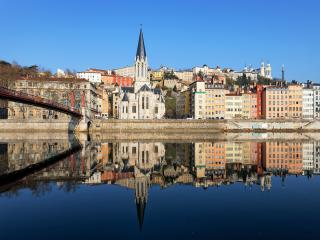 View Of Lyon And Saone River