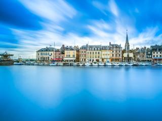 Honfleur Skyline Harbor, Normandy, France