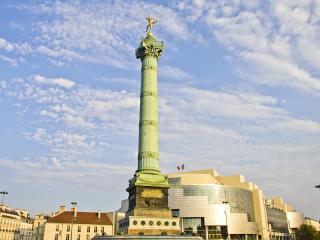 Place De La Bastille And The And Opera Bastille