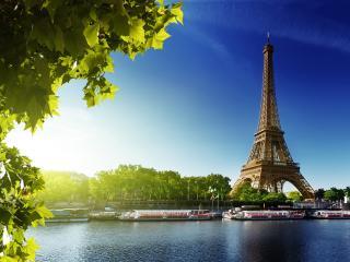 Paris - Seine River with Eiffel Tower