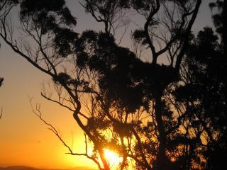 Sunset at Balancing Rock