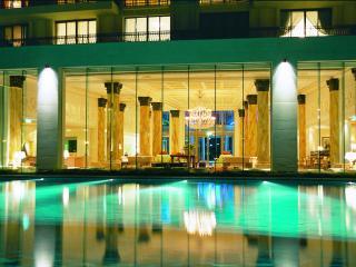 Lobby and Pool at Night