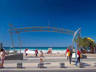 Surfers Paradise Sign at the Top Of Cavill Avenue