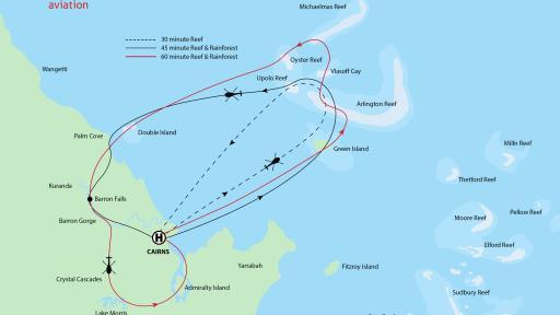 30-45-60 Minute Scenic Flights (ex Cairns)