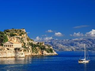 Seaside Corfu and Ruins