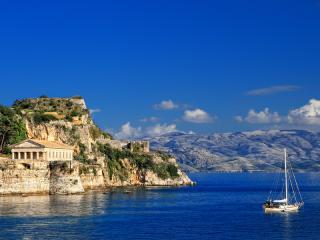 Hellenic Temple in Corfu, Greece