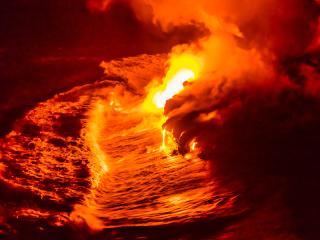 Lava, Hawaii, Hawaii Island, Kilauea Volcano, Volcanoes National Park