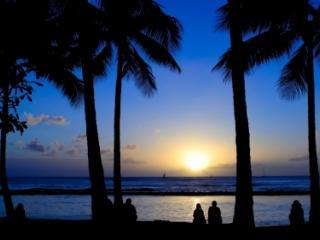 Hawaiian Sunset Wwaikiki Beach