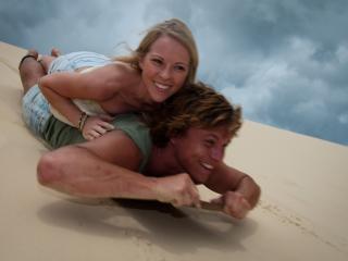 Sand Boarding on Moreton Island