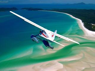 Plane over Whitehaven