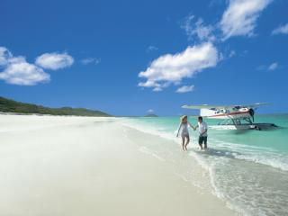 Couple at Whitehaven Beach
