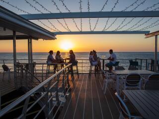 Reefworld Top Deck at Sunset
