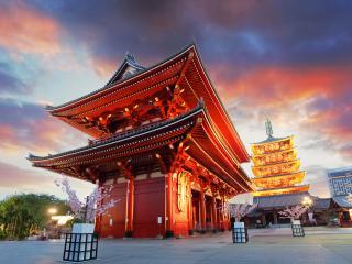 Tokyo, Sensoji-ji Temple In Asakusa