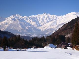 Japan, Hakuba Village In Winter