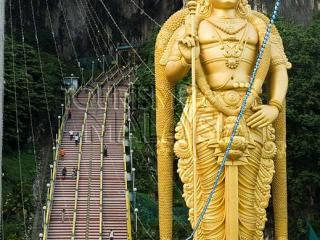 Half Day Suburbs and Batu Caves Tour