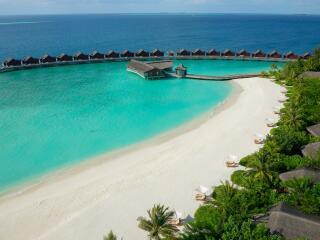 Aerial of Beach Pool Villas