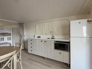 Deluxe Safari Tent Interior - Sleeps 4