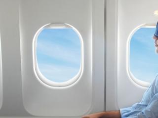 Sleeping on Plane