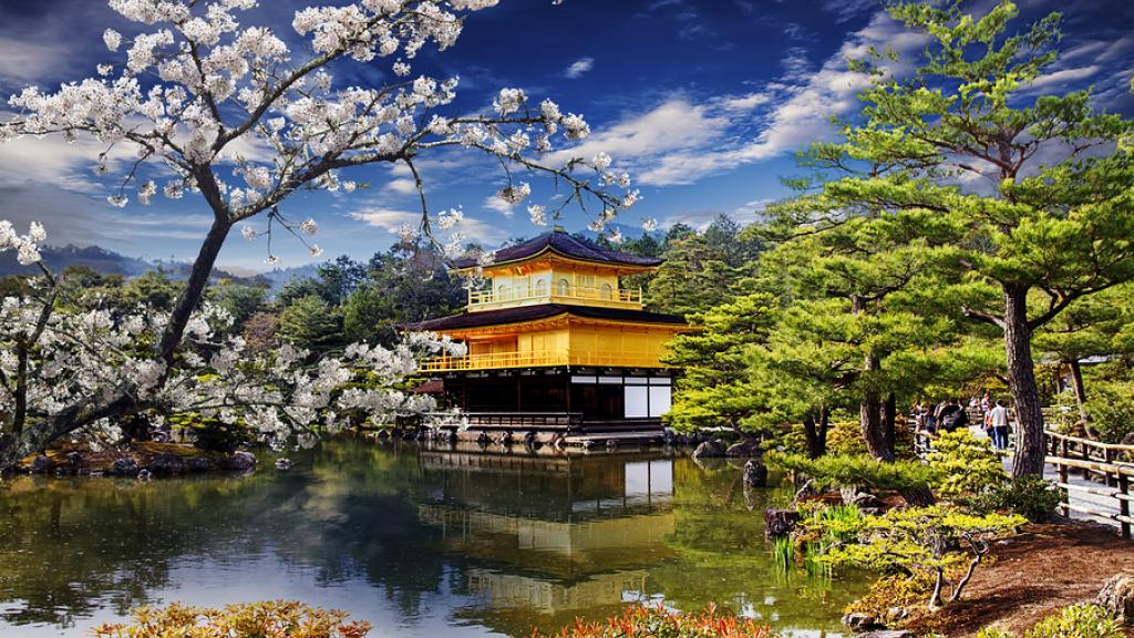 Japan - Kyoto, Gold Temple (Golden Pavilion)